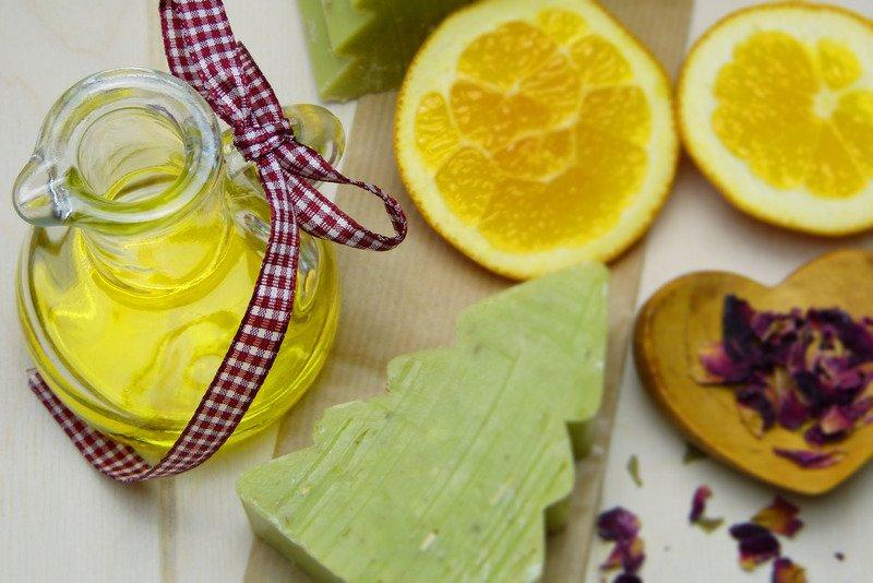 Lemon tree shape soap