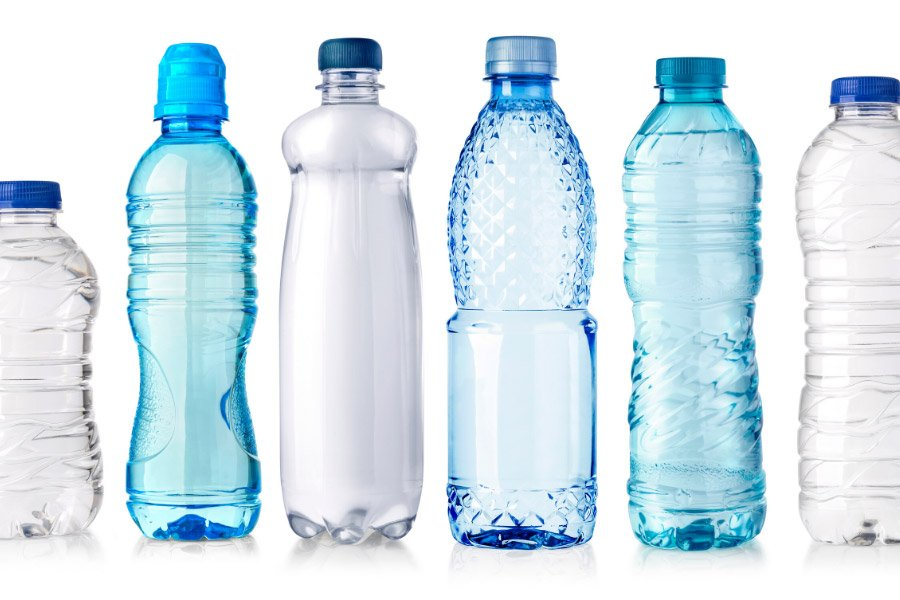 Water bottles in different sizes